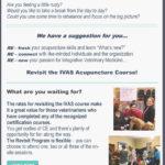 Revisit the IVAS Acupuncture Course